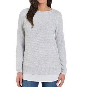 NEW Hilary Radley Ladies' 2fer Knit Sweater